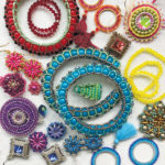 A Personal View of Colour workshop with Chloe Menage at the Beadworkers Guild Beading Festival