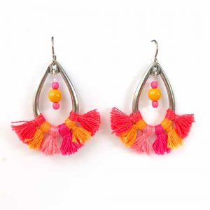Flamenco Earrings workshop at Gallery 30 Petersfield with Chloe Menage