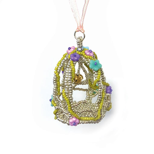 Reves Beaded Bird Cage virtual workshop with Stitchncraft Beads