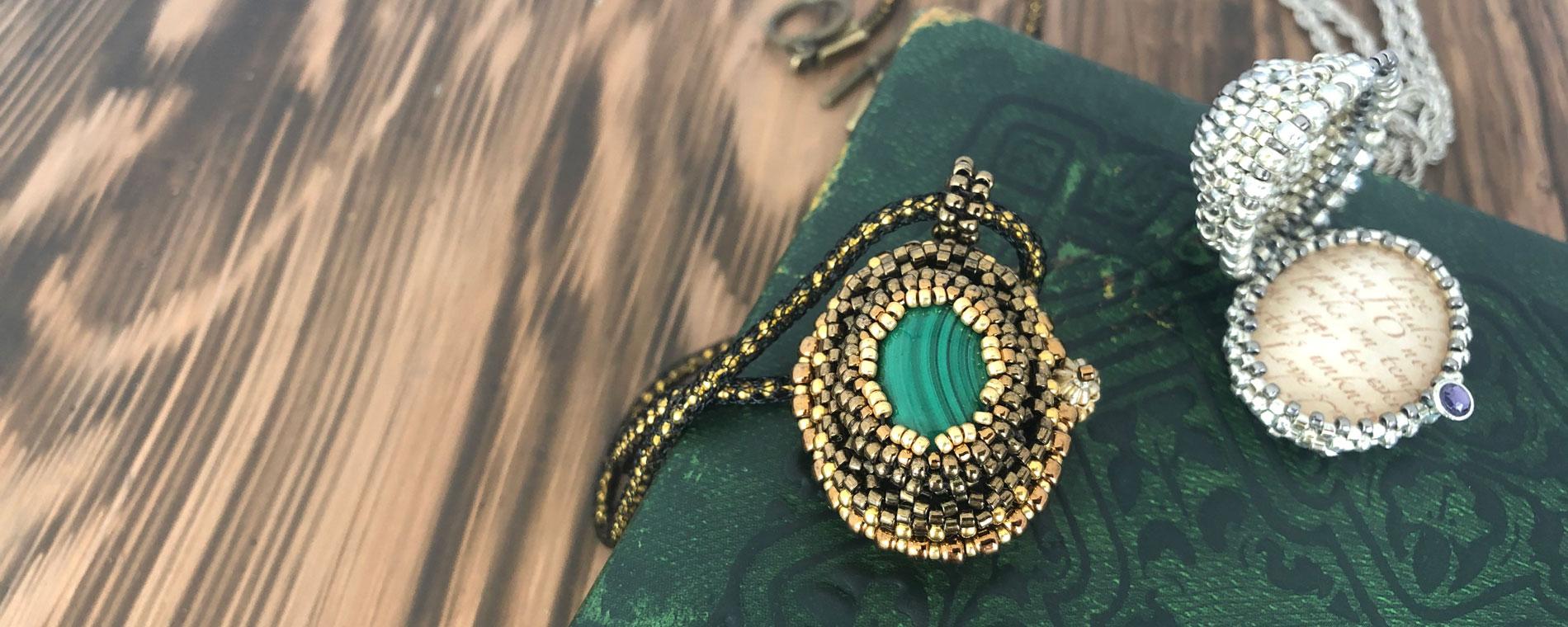 Jane Seymour's Locket - Tudor inspired beading project by Chloe Menage